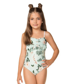 Agua Bendita Girls Lulu Camellia One Piece Swimsuit
