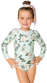Agua Bendita Girls Patti Camellia Long Sleeve One Piece Swimsuit