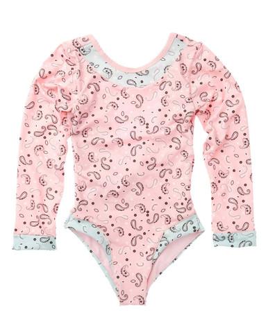 Agua Bendita Girls Patti Daybreak Long Sleeve One Piece Swimsuit