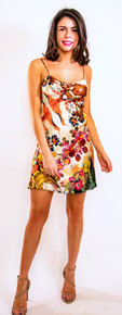 Trisha Paterson Silk Stretch Short Cami Dress Solstice