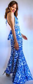 Trisha Paterson Silk Stretch Mykonos Halter Dress