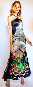 Trisha Paterson Silk Stretch Nuit Noire Dress