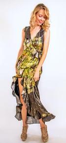 Trisha Paterson Silk Elixir Wrap Dress