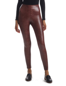 Commando Perfect Control Faux Leather Legging SLG50 Brown Crocodile