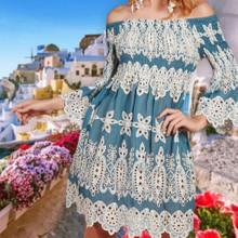 Antica Sartoria Positano Short Dress AS3 Denim