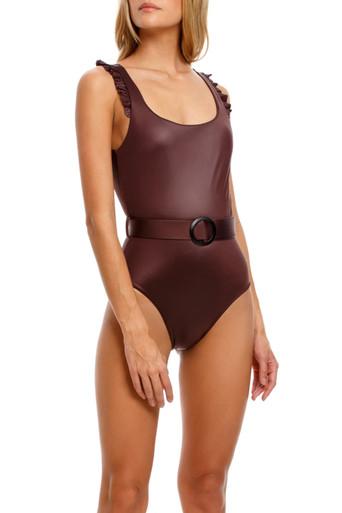 2021 Agua Bendita Bronzo Palette Nicolette One Piece Swimsuit