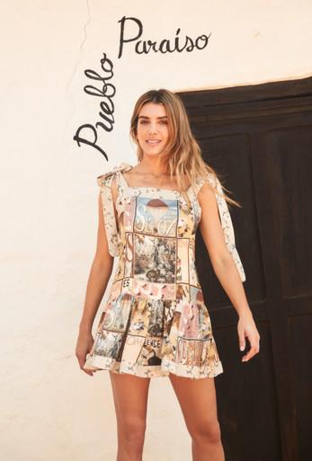 2021 Agua Bendita Zola Joaquina Short Dress