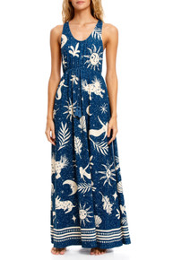 2021 Agua Bendita Maniera Leslie Maxi Dress