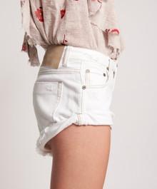 One Teaspoon Cut Off Shorts Bandits White Beauty