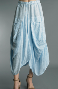 Tempo Paris Linen Skirt 712LA Sky