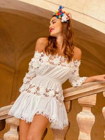 Antica Sartoria Positano Mini Dress Tunic AS37 White