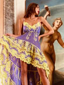 Antica Sartoria Positano High Low Dress  AS22 Lavender
