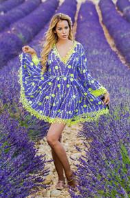 Antica Sartoria Positano Mini Dress AS65 Lavender