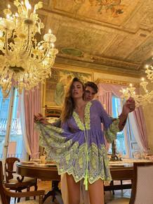 Antica Sartoria Positano Mini Dress AS57 Lavender