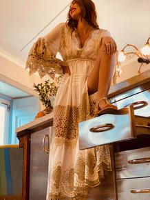 Antica Sartoria Positano Maxi Dress AS59 White