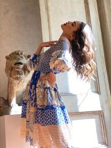 Antica Sartoria Positano Dress AS21 Blue