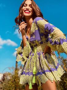 Antica Sartoria Positano Mini Dress AS68 Lavender