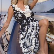Antica Sartoria Positano Lace Dress AS64 Black