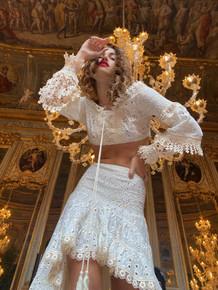 Antica Sartoria Positano Top and Skirt Set AS101 White