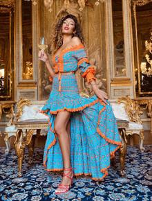 Antica Sartoria Positano Top and Skirt Set AS101 Orange