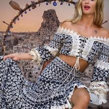 Antica Sartoria Positano Top and Skirt Set AS101 Black