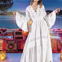 Antica Sartoria Positano Maxi Dress AS41 White