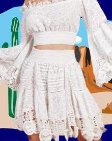 Antica Sartoria AS113 Skirt White