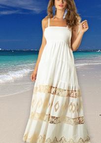 Antica Sartoria AS116 Strappy Maxi Dress White