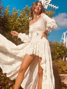 Antica Sartoria AS106 High Low Dress White