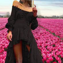 Antica Sartoria AS106 High Low Dress Black