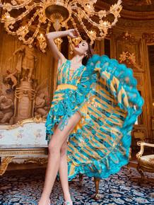 Antica Sartoria Positano High Low Dress AS36 Yellow