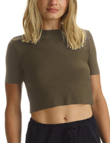Commando Butter Cropped Tee TS12 Basil