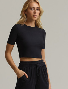 Commando Butter Cropped Tee TS12 Black
