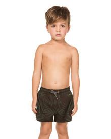 Agua Bendita Nick Boys Swim Shorts Camellia Palm