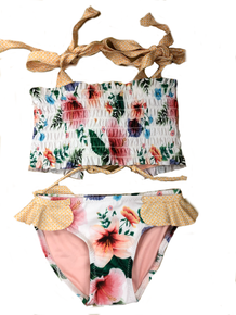 Agua Bendita Girls Bikini Set Ava Pastel Tropic