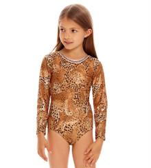 Agua Bendita Girls Long Sleeve One Piece Swimsuit Honey Jambo