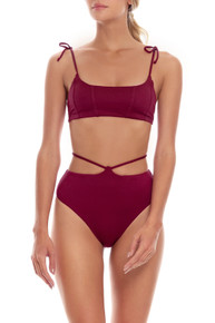 2022 Agua Bendita Leva Genoveva Safire Bikini Set Wine