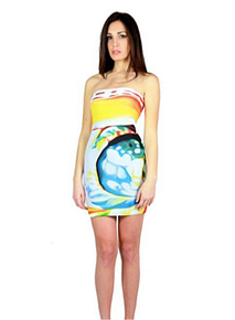 Letube Nautilus Animalier Convertible Tube Dress