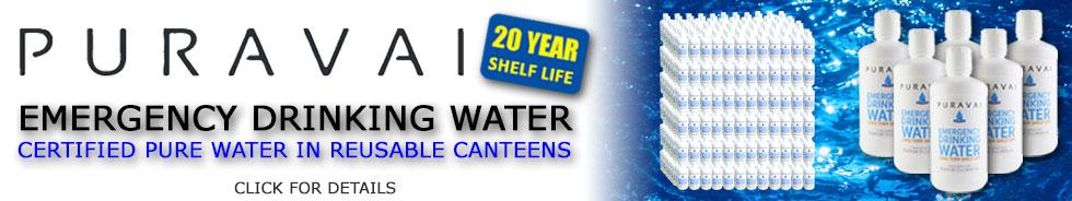 Puravai Emergency Drinking Water with 20 Year Shelf Life