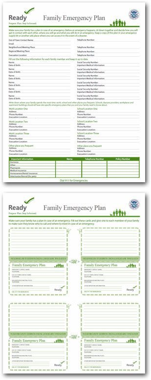 emergency survival step 2 make a plan