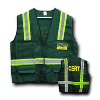CERT Safety Jacket with Reflective Stripes