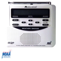 WR120C Midland Emergency Weather NOAA Radio with Alarm Clock - Top View