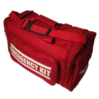 """EMERGENCY KIT"" Heavy Duty Duffel Bag (Angle View)"