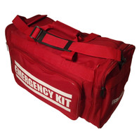 """EMERGENCY KIT"" Heavy Duty Duffel Bag (Angle View)"
