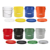 Bucket Container with Lid - 3.5 Gallon (Color Options)