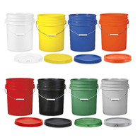 Bucket Container with Lid - 5 Gallon (Color Options)