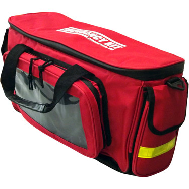 """Deluxe """"EMERGENCY KIT"""" Duffel Bag - Angle View"""