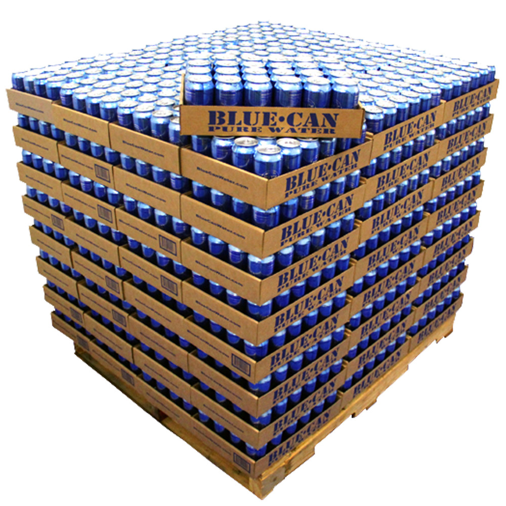 Blue Can Emergency Water 50 Year Shelf Life Pallet Of