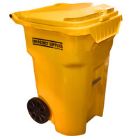 """""""Emergency Supplies"""" Storage Container - Left side Angle"""
