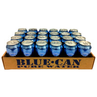 Blue Can Water (Case of 24 Cans)